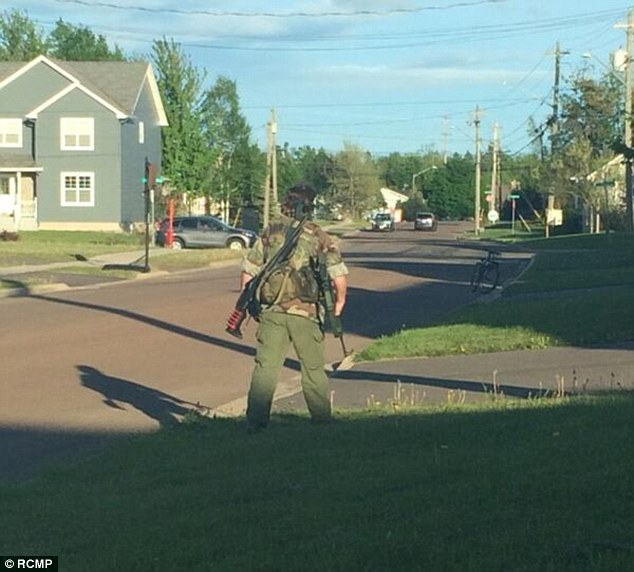 Manhunt: Residents of Moncton are being urged by police to stay indoors