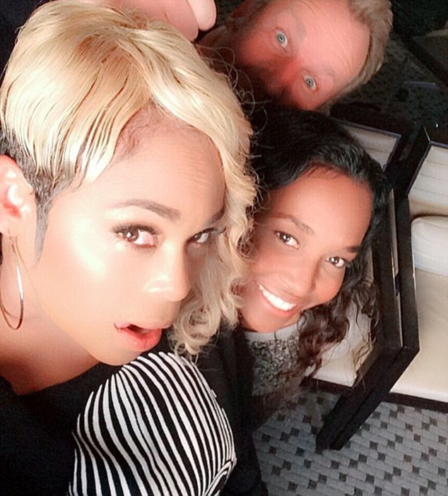 Down Under: T-Boz took to her Instagram account on Thursday to share this snap of the pair in Sydney ahead of their sold out concert on Friday