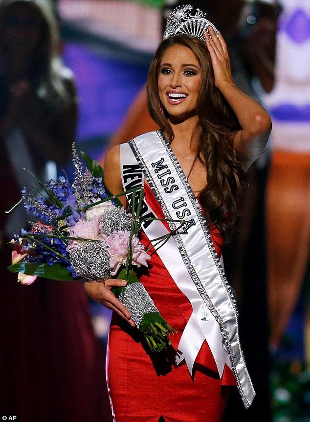Winner: Miss Nevada USA Nia Sanchez, pictured, won the Miss USA crown on Sunday night
