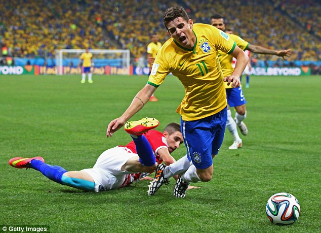 Brazil: Beat two men before providing the ball from which Neymar scored, and showed ambition.