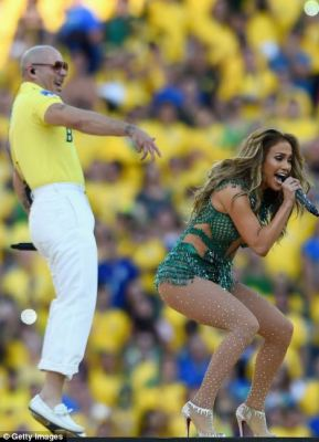No holding her back: There had been initial reports that Jennifer was due to drop out, but by the looks of her energetic performance there was nothing that could have kept her away from the stage