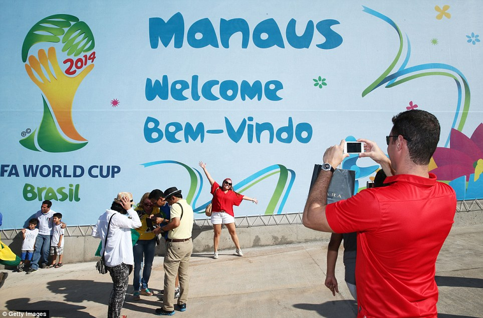 Welcome! The atmosphere in Manaus reached fever pitch as thousands of England fans arrived for the match. The city was once at the centre of the rubber trade