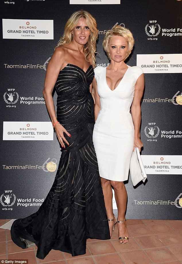 Beautiful: The pair posed together at the World Food Programme Charity Gala at the Taormina Film Festival