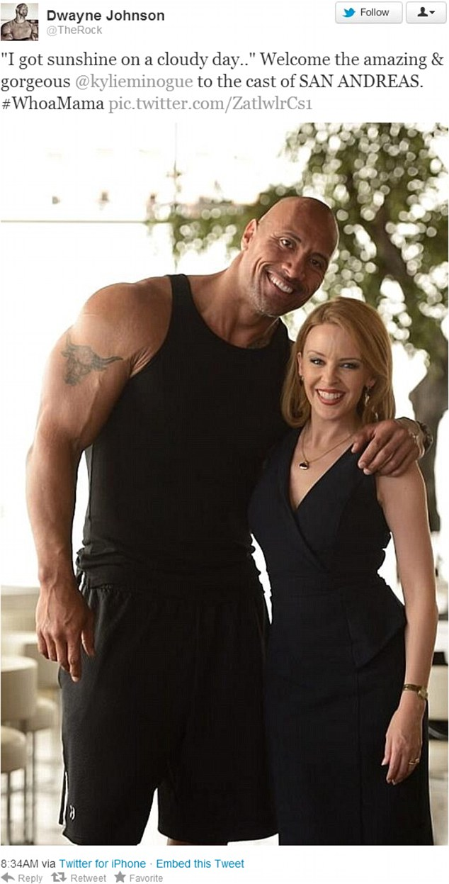 Dwayne The Rock Johnson Gushes Over Kylie Minogue On The