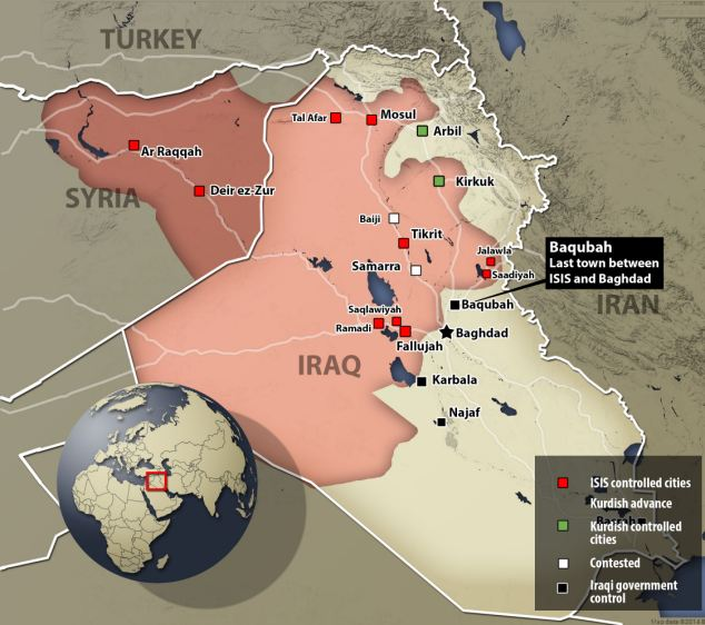 ISIS aims to establish a caliphate -- an Islamic state that transcends national borders -- in areas of Syria and Iraq, and it has captured at least nine cities in the two countries