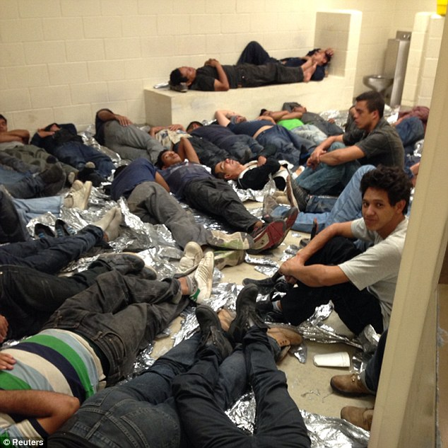 National shame: Hundreds of children are turning themselves in every week along the Arizona, Texas and New Mexico borders, knowing that they will be processed and then allowed to stay in the United States while their immigration cases are sorted out