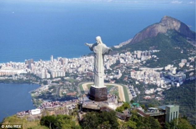 Arrests: The unnamed British and American men were arrested in Rio de Janeiro