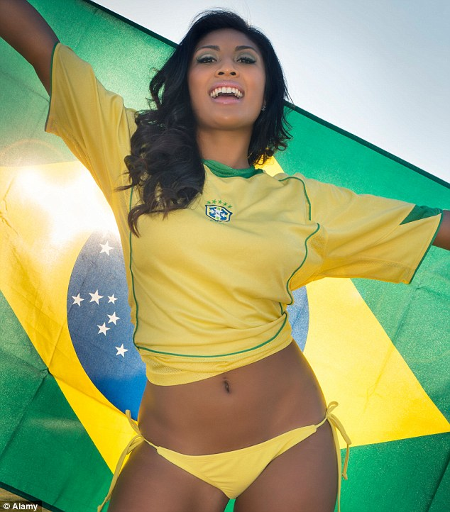 Favourite: Men voted Brazil as their top sexiest country, and women also voted it into their top 10