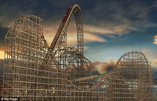 Image result for wooden roller coaster