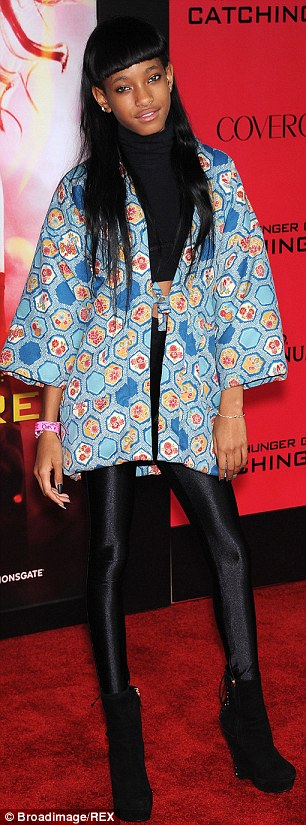 Some aren't in cages: The 13-year-old daughter of Will Smith and Jada Pinkett-Smith, seen here at The Hunger Games: Catching Fire premiere in LA in 2013, is said to let some of her snakes roam free