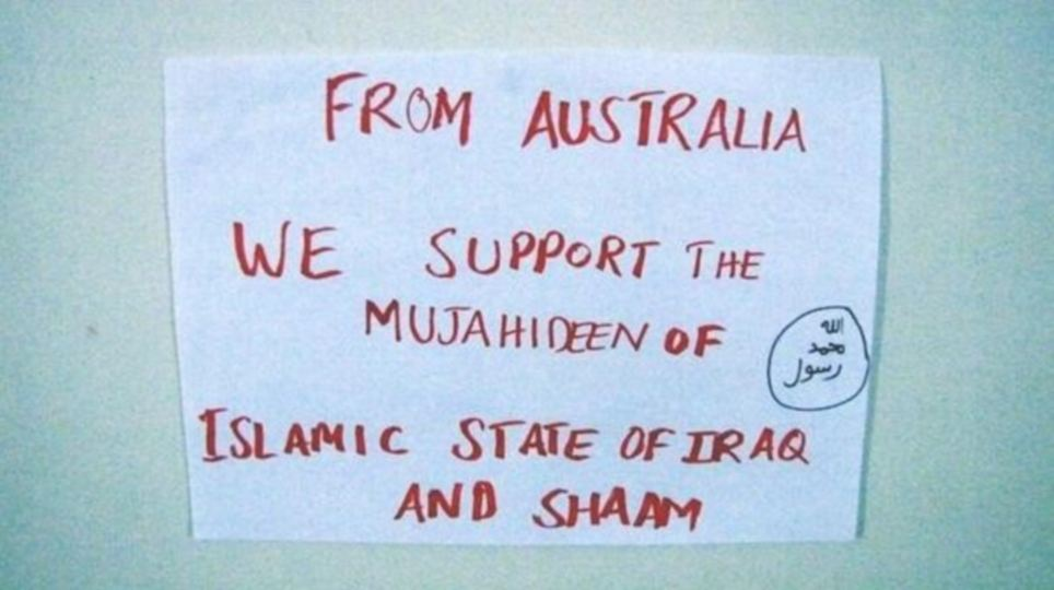 Worldwide: On the other side of the world, supporters in Australia sent this picture to join the Twitter storm as leaders grapple to control the crisis in Iraq