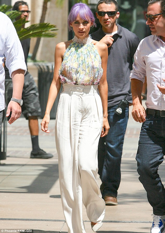 Filming: Nicole Richie shot her new reality series Candidly Nicole on Friday in Los Angeles