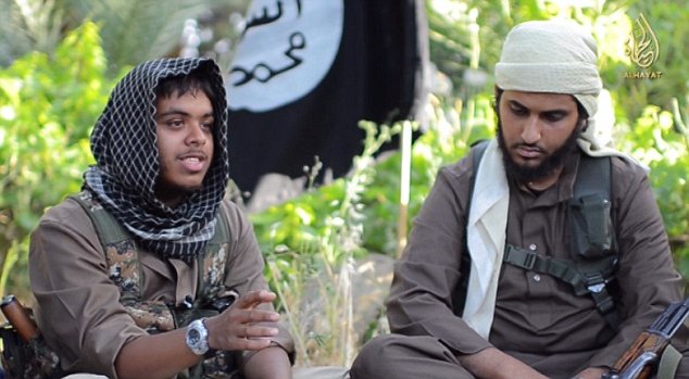 Cardiff link: Reyaad Khan and Aseel's brother Nasser Muthana appear in this Isis recruitment video encouraging others to fight jihad