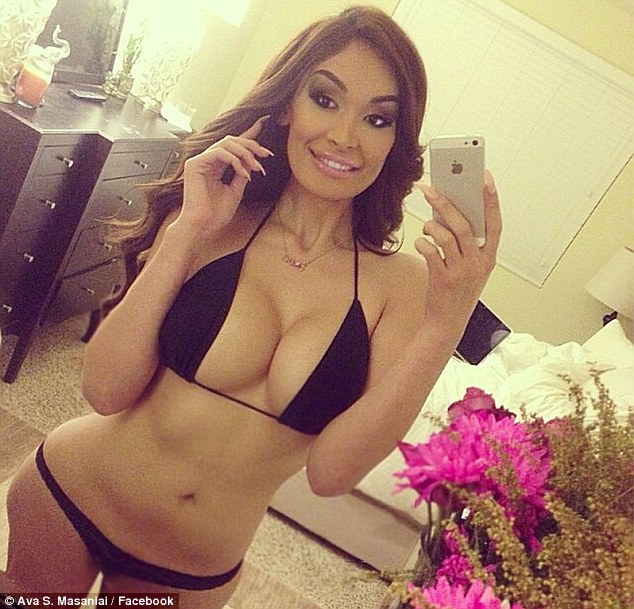 New girl: The woman Hank is accused of having an affair with is transsexual Ava Sabrina London - who also goes by the name Ava S Masaniai - pictured here in a Facebook shot