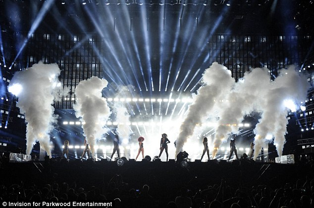 Special effects: Fog machines released thick plumes into the air