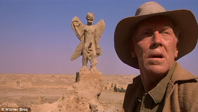 Location: The first scene in The Exorcist, filmed at Hatra, sees a priest  (played by Max von Sydow, pictured) at an archaeology dig find an ancient talisman belonging to Mesopotamian demon Pazuzu