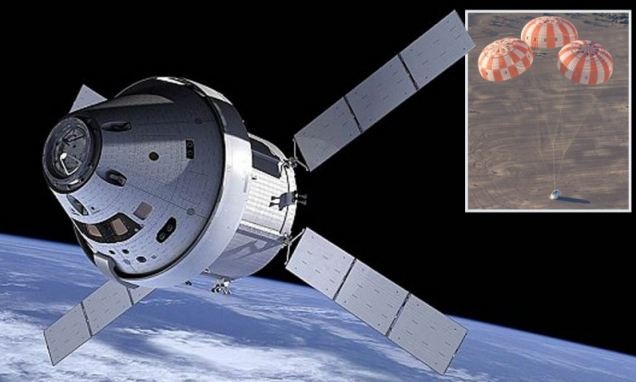 2671340 - Countdown to Mars: Nasa's Orion capsule that will take man to the red planet passes first parachute tests