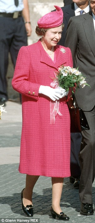 1987: Elegant in Spain. Her shoes have since survived the reign of King Juan Carlos