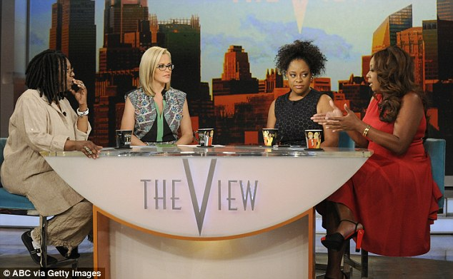 Big changes: Whoppi Goldberg, pictured with the ladies and guest host Star Jones, will stay but ABC says it is now looking to 'evolve' the show