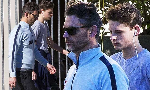 Eric Bana Takes His Lookalike Son Klaus For Some Male