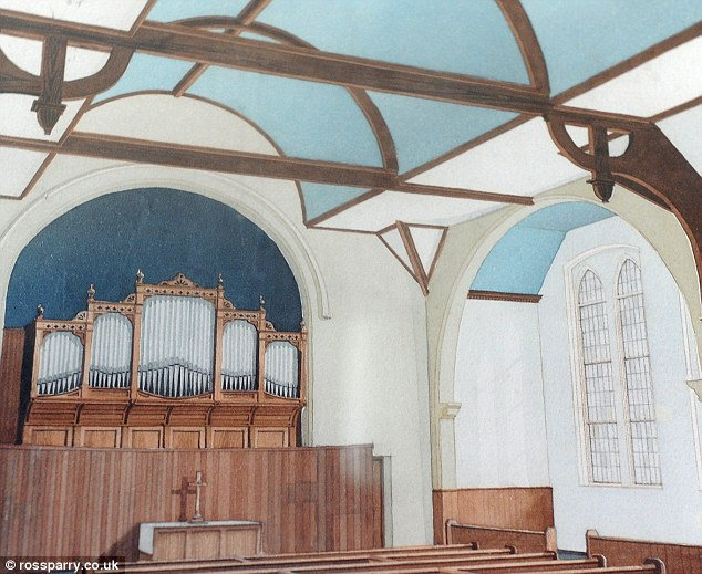 Old-time religion: The above picture shows the organ as it would have been during the church's heyday