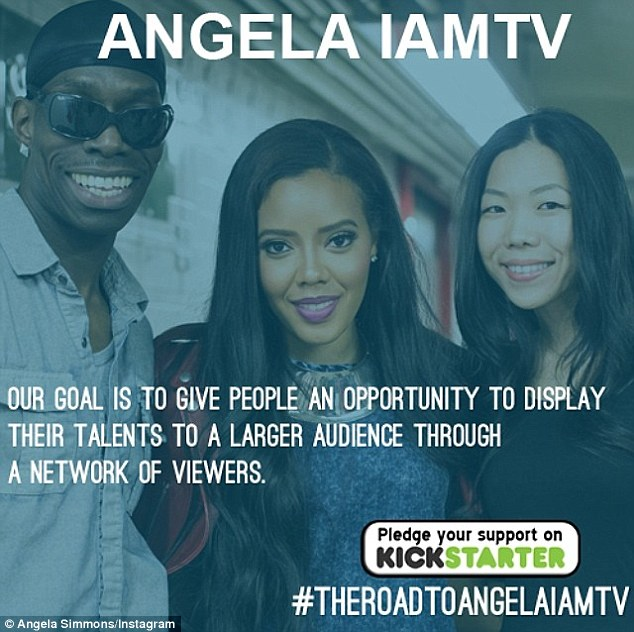 Six days left! The raven-haired beauty has only raised $2,605 of her $25,000 Kickstarter goal to expand her e-commerce site - AngelaIAmTV