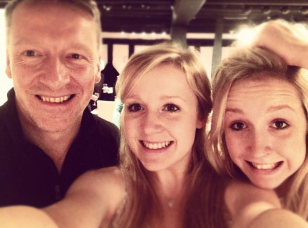 Daddy's girls: Mark Reilly with daughters Louise (centre) and Jessica. Last summer he was cast into the epicentre of a scandal which would quickly and systematically destroy his picture-perfect existence