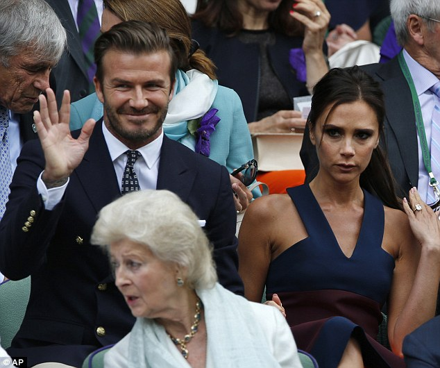 Posh & Becks: David and Victoria Beckham turning up just on time