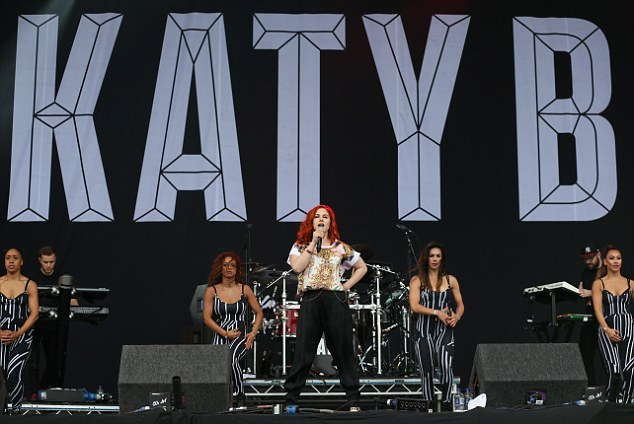 There was no mistaking who was on stage when it was Katy B time