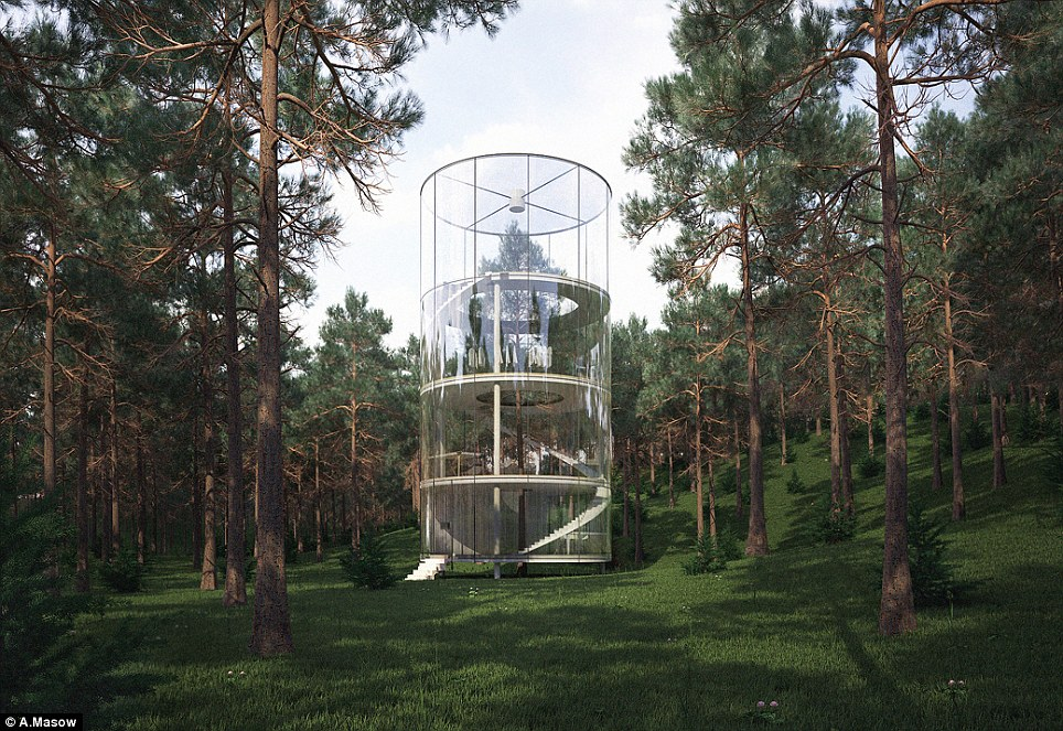 See the forest from the trees: Russian design studio A.Masow created this remarkable tree house in Kasakhstan