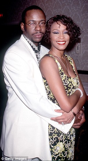 Double trouble: Arlen Escarpeta and Yaya Dacosta (left) will be portraying troubled couple Whitney Houston and Bobby Brown (right) in an upcoming Lifetime biopic