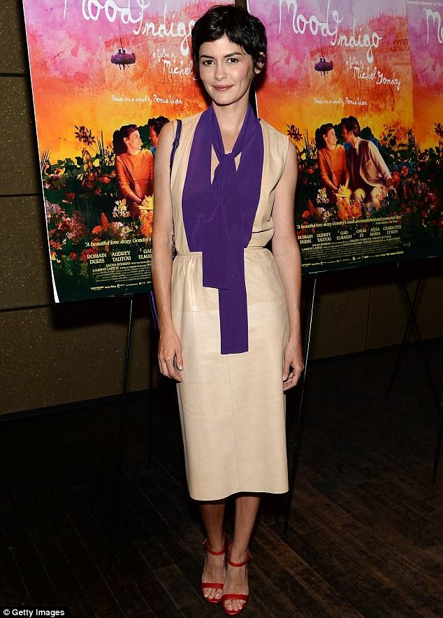 Audrey Tautou Attends Mood Indigo Premiere In Elegant