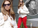 Bright idea: Maria Shriver steps out for lunch in red slacks¿ before announcing volunteer program launched in her father's honor
