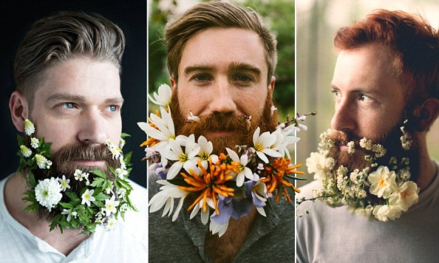 Flower Beard Trend Sees Hipsters Weave Foliage Into Their