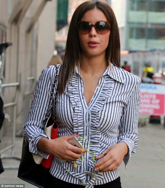 Nawal Msaad, pictured arriving at the Old Bailey today. She is accused of concealing ¿20,000 in her knickers to give to El-Wahabi's husband Aine Davis in Syria