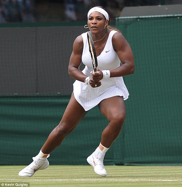 Girl power: Tennis champ Serena Williams was ranked America's most favorite female athlete. Serena exited early at Wimbledon (pictured above) this year, and was forced to forfeit in the doubles championship with her sister Venus (ranked number three on the list) when she contracted a viral illness