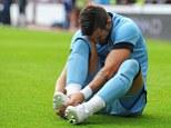 Pain: Negredo went off injured