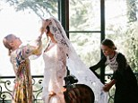 Sister act: Mary-Kate and Ashley Olsen designed their first wedding dress for their friend Molly Fishkin