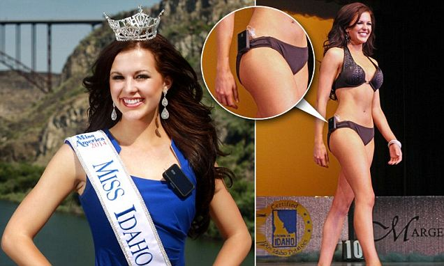 On Saturday, 20-year-old Sierra Sandison was crowned Miss Idaho after she inspired spectators by  showing off the medical device that helps keep her blood sugar regulated.
