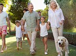 Dog owners act ten years younger than their age, a study found. The St Andrews University research showed that they not only more active, they are also mentally fitter