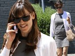 Alone time: Jennifer Garner, 42, Ben Affleck's wife of nine years, spent her Friday shopping in Brentwood without the couple's three children