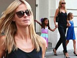 She's their role model! Heidi Klum's daughters Leni and Lou both sport fun heels much like their mother