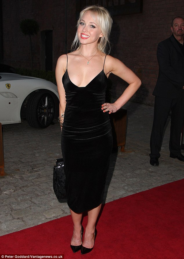 Jorgie Porter Goes Braless In Dress At Gillian Taylforths