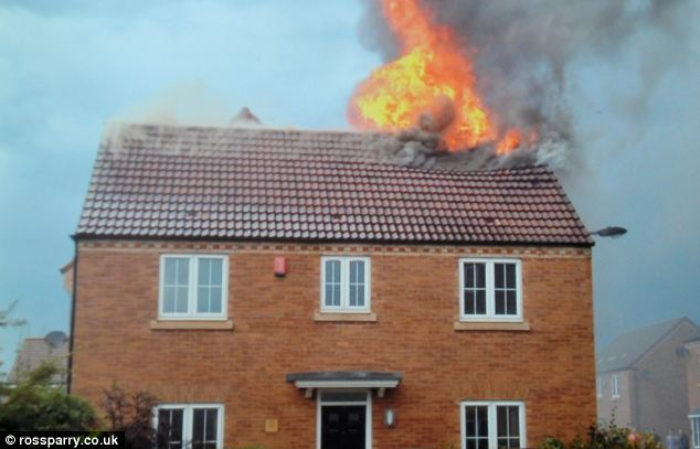 The fire at this South Yorkshire home was started by bolts of lightning. Although it was unoccupied at the time, firefighters managed to go inside and rescue the family goldfish