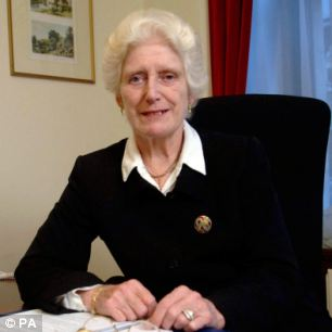 Baroness Butler-Sloss, pictured, feels 'hurt and sadness' over resignation