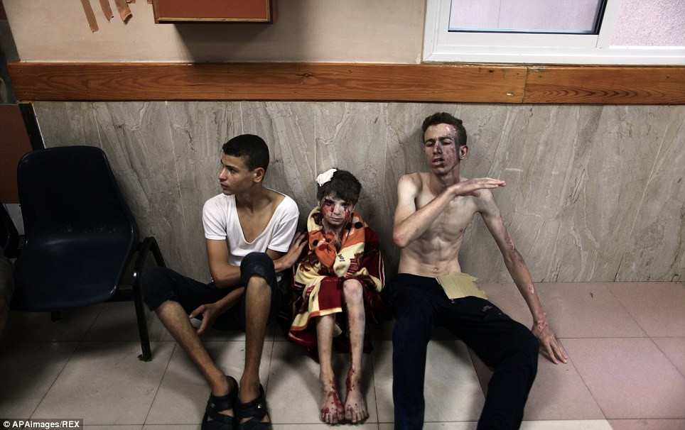 The mass casualties in the Shejaia district in northeast Gaza appeared to be the heaviest since Israel launched its offensive on the Palestinian territory on July 8