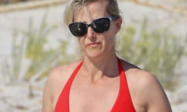 Sophie Countess Of Wessex Dazzles On Spanish Beach