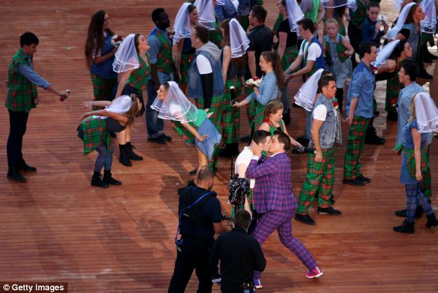 The kiss has been seen as a message to the 42 Commonwealth countries where it is a crime to be gay