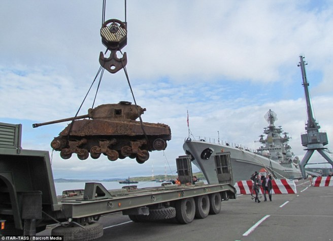 The Russian salvage team say there are two more Shermans aboard the wreck waiting to be brought to the surface