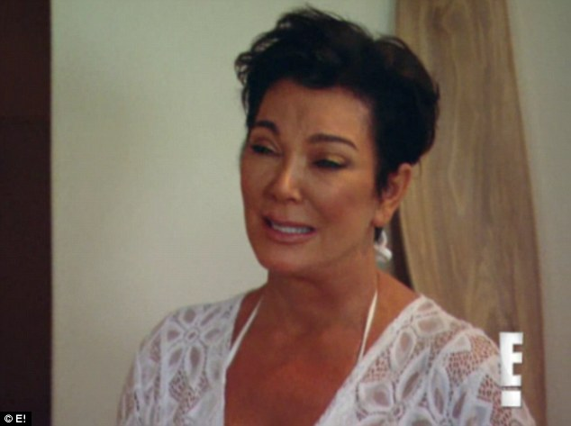Heartbreak: Kris Jenner bursts into floods of tears over her troubled son Rob Kardashian in this week's episode of Keeping Up With The Kardashians